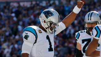 Cam Newton Raised His Fist After Becoming The First Quarterback With 50 Career Rushing Touchdowns