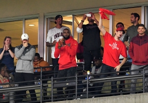 The Cavs Were The Indians' Biggest Fans During Their Game 1 Win Over The Yankees