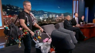 George Clooney Uses His Kids To Sneak Matt Damon Onto 'Jimmy Kimmel Live' And Keep The Feud Alive