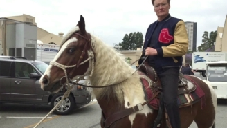 Conan Faced Quite The Ordeal After David Letterman Sent Him A Horse As A Thank You Gift