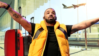 Here's Drake Showing Us All The Freaking Future Of Rideable Luggage