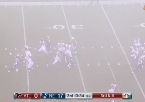The Thick Fog Covering The Field During The Patriots Vs. Falcons Game Led To Belichick Conspiracy Theories