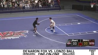 We Had Lonzo Ball And De'Aaron Fox Play Each Other 1-On-1 In 'NBA 2K18'