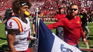 Baker Mayfield Got A Taste Of His Own Medicine As Iowa State Celebrated Its Upset Win Over Oklahoma