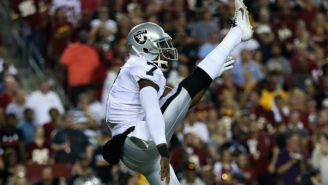 Marquette King Threw A Football At A Broncos Defender After A Failed Fake Punt In Raiders Territory