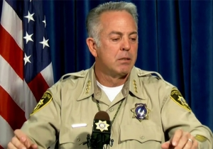 The Las Vegas Sheriff Gets Choked Up While Discussing The Bravery Of His Injured Deputies