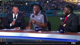 Magic Johnson Dodged David Ortiz's Question About The Lakers Signing LeBron James Next Summer