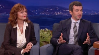 Nathan Fielder Worries He'll Spoil His Appearance On 'Conan,' So He Brings Susan Sarandon As A Backup