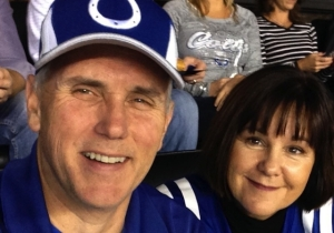 The Picture Mike Pence Tweeted Of Him At Sunday's Colts Game Is Actually From 2014
