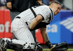 Everyone Cringed After Yankees Catcher Gary Sanchez Got Hit Below The Belt With A Foul Ball