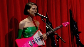 St. Vincent Performed Stunning Renditions Of Both 'New York' And 'Los Ageless' On 'Colbert'