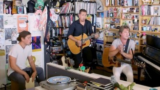Hanson Bring Rich Vocal Harmonies And Upbeat Vibes To Their Stripped-Down Tiny Desk Performance