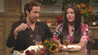Ryan Gosling And Cecily Strong Have Their Reality Shattered By Pizza Hut's Pasta On 'SNL'