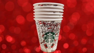 The New Starbucks Cup Probably Won't Offend Anyone This Christmas
