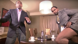 Stephen A. Smith Hung Out With A Pantsless Jamie Foxx On 'First Take' For Some Reason