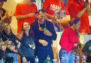 Alex Rodriguez Repped The U By Wearing A Turnover Chain To Miami's Game Against Virginia Tech