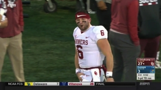 Baker Mayfield's Crotch Grab Will Cost Him A Start Against West Virginia