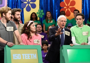 Larry David's Bernie Sanders Returns To Play 'The Price Is Right' On 'SNL' With Some Help From Liam Hemsworth