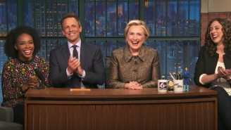 Hillary Clinton Visits 'Late Night With Seth Meyers' To Finish The Punchlines Of Some Harsh Jokes