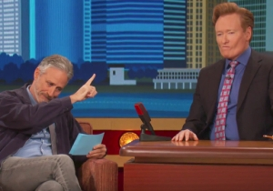 Against Great Odds, Conan Aces Jon Stewart's Near-Impossible NYC Citizenship Test