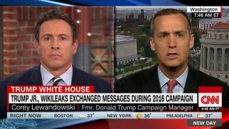 Corey Lewandowski Blatantly Ignores Chris Cuomo's Questions About Donald Trump Jr. And WikiLeaks