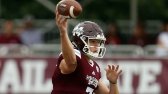 Mississippi State Quarterback Nick Fitzgerald Suffered A Horrific Leg Injury During The Egg Bowl