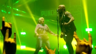 Watch The Coolest Grandma Ever Play Air Guitar On Stage With Five Finger Death Punch