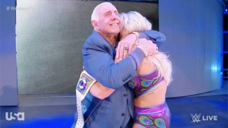 Ric Flair Helped Charlotte Celebrate Her Title Win In North Carolina