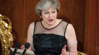 British PM Theresa May Accuses Vladimir Putin Of Election Meddling And Trying To 'Weaponize' Information