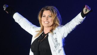 Watch Shania Twain's Grey Cup Entrance While Riding On A Dog Sled Achieve Peak Canada