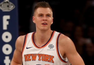 Kristaps Porzingis' Latest Unicorn Moment Came When He Blocked Cody Zeller Three Times In A Row