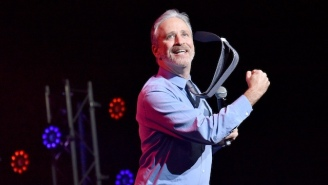Jon Stewart Is A Drummer Now And He Grabbed The Sticks On A Charity Single To Prove It