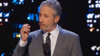 Jon Stewart Beautifully Handles This Segment With A Non-Verbal Autistic Woman After It Doesn't Go As Planned