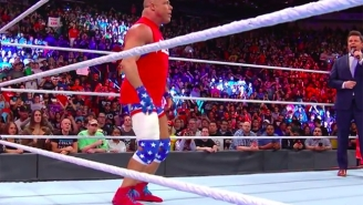 Kurt Angle Explained Why His Leg Was Taped Up At Survivor Series