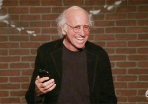 Larry David Couldn't Stop Cracking Up While Trying To Read Mean Tweets About Jimmy Kimmel