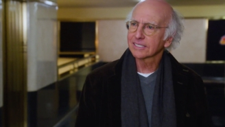 Larry David Shares His Elevator Philosophy With Miley Cyrus In This Very 'Curb' 'SNL' Teaser
