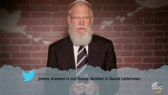 Jimmy Kimmel Gets The Mean Tweets Treatment Himself Thanks To David Letterman, Jon Stewart And More