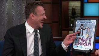 Jason Segel And Stephen Colbert Recall Fake Movies They Did In This Sublimely Silly 'Late Show' Segment