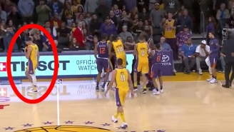 Lonzo Ball Had A Fantastic Reason For Walking Away From The Lakers-Suns Fight
