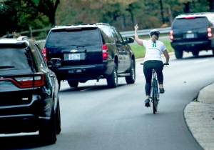 The Woman Who Went Viral For Flipping Off Trump's Motorcade Has Been Fired From Her Job