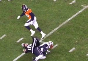 A Ref Had A Scary Fall During The Patriots-Broncos Sunday Night Football Game And Had To Be Carted Off