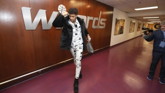 Kelly Oubre's NSFW Fur Coat Is Challenging Russell Westbrook For The NBA's Most Ridiculous Outfit