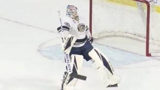 A Winnipeg Jets Goalie Prospect Scored A Rare Goal And Celebrated With A Vince McMahon Strut