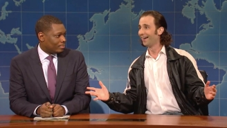 Kyle Mooney's Love-Starved 'SNL' Stand-Up Bruce Chandling Visits 'Weekend Update' To Talk Thanksgiving