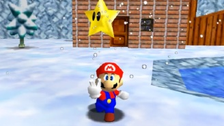 Mario Now Has A Portal Gun In A 'Super Mario 64' Mod