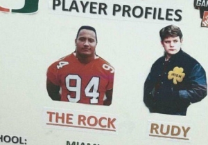 A Miami Fan's 'College GameDay' Sign Illustrated The Difference Between The Rock And 'Rudy'