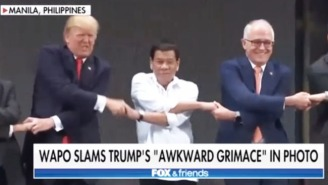 'Fox & Friends' Jumps To Trump's Defense Over Yet Another Awkward Handshake Photo