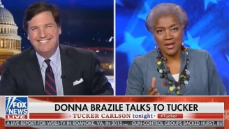 Tucker Carlson Can't Keep From Laughing While Commending Donna Brazile For 'The Greatest Spin I've Ever Heard'