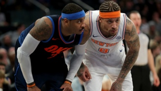 Michael Beasley Stole The Show During Carmelo Anthony's Return To New York