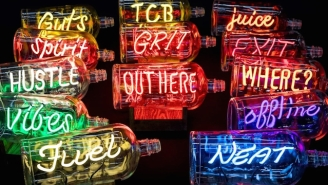 These Neon Whiskey Bottles Are The Perfect Gift For The Imbibing Art Lover